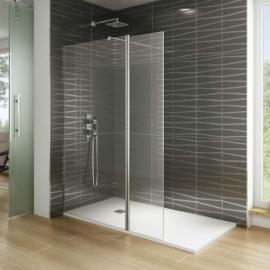 Paroi de douche verre fixe + volet pivotant SCREEN MOVING