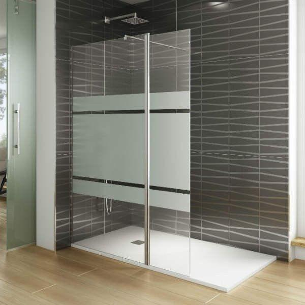 paroi de douche verre fixe volet pivotant mod le screen moving. Black Bedroom Furniture Sets. Home Design Ideas