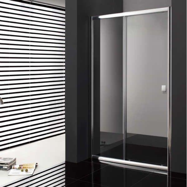 paroi de douche coulissante avec verre fixe porte pas. Black Bedroom Furniture Sets. Home Design Ideas