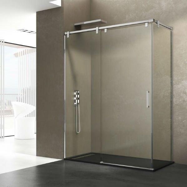 paroi de douche en acier inoxydable coulissante pas cher inox futura. Black Bedroom Furniture Sets. Home Design Ideas