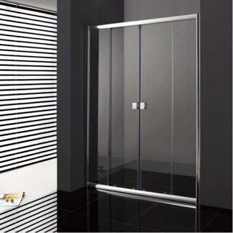 paroi de douche coulissante verre fixe 2 portes pas cher sur mesure. Black Bedroom Furniture Sets. Home Design Ideas