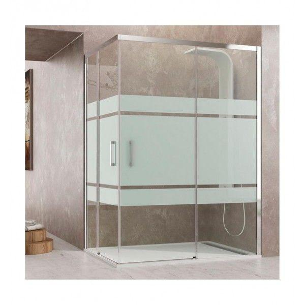 paroi de douche d 39 angle coulissante verres fixes 2 portes sur mesure. Black Bedroom Furniture Sets. Home Design Ideas